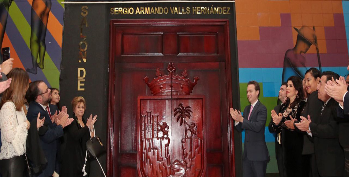 sesión solemne Develación de nombre de salón de sesión Sergio Armando Valls Hdz. jmc37