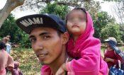 Policías Federales vigilan caravana de migrantes para evitar accidentes o secuestros